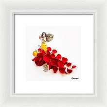 Red Petal Skirt - Framed Print