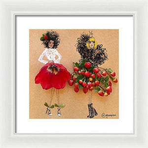 The Cranberry Girls  - Framed Print