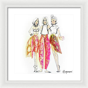 Three Peas in a Pod - Framed Print