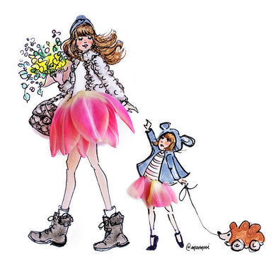 Walkin' With Mama - Art Print