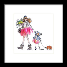 Walkin' With Mama - Framed Print