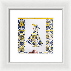 Yellow Portugal Girl - Framed Print