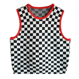 CROP TOP DAMIER