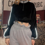 CROP TOP KLUB BLACK REFLECHISSANT