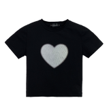 T-SHIRT COURT BLACK LOVE RETRO