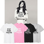 T-SHIRT GIRLSBAND STAY PUNK