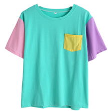 T-SHIRT PATCHWORK (BLEU)