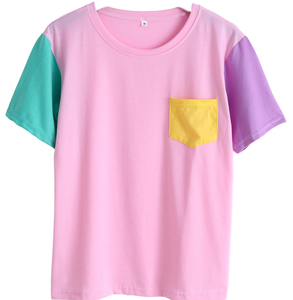T-SHIRT PATCHWORK (ROSE)