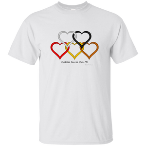 Adult & Youth Ultra Cotton T-Shirt - Kindness Heart Rings