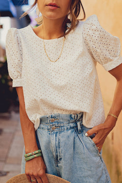 Blouse Bea Broderie Chemises & Tops Stella & Suzie