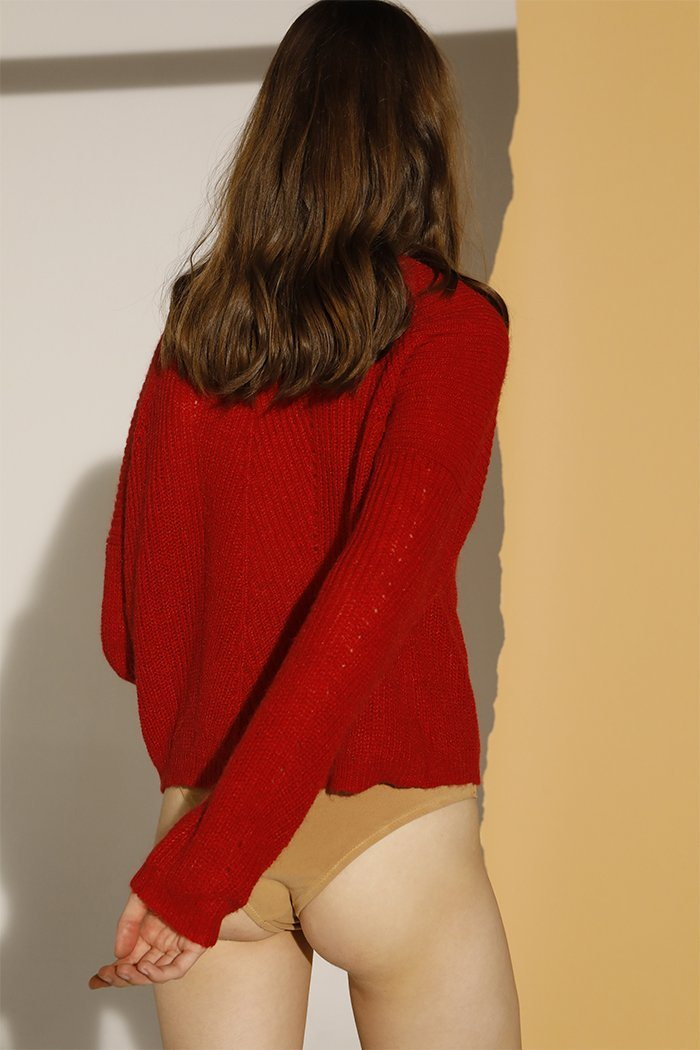 Cardigan Visconi Rouge/Red - Maille Et Sweats - Swildens - The Bradery