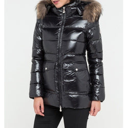 Doudoune Authentic Jacket Shiny Fur - Black - Femme Doudounes Pyrenex