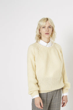 Pull Manches Longues Aria Ecru/Off White - Maille Et Sweats - Swildens - The Bradery