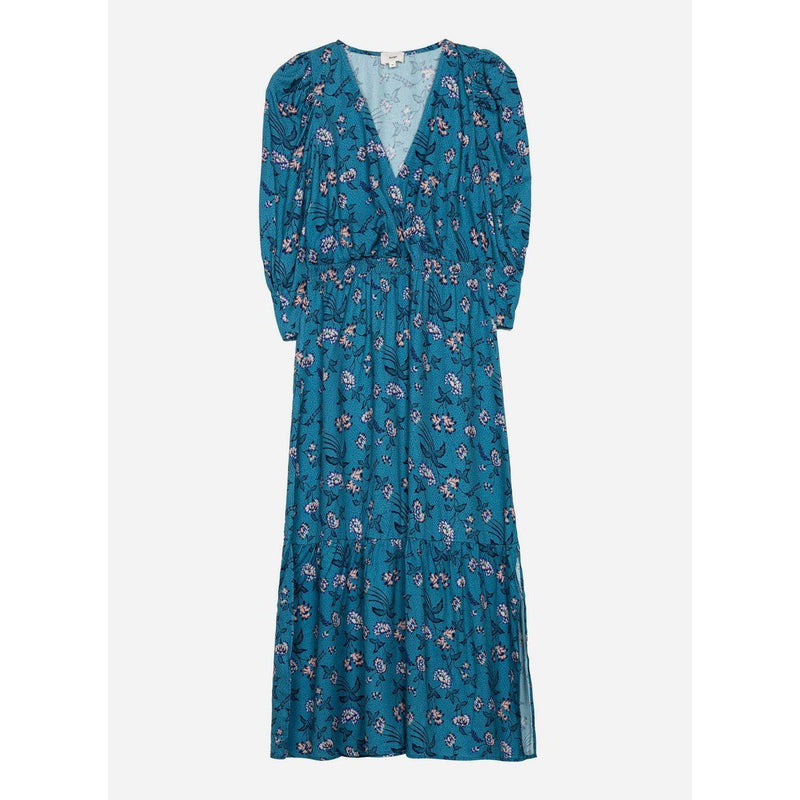 Robe Midi Max Bleu Et Rose Robes An'ge