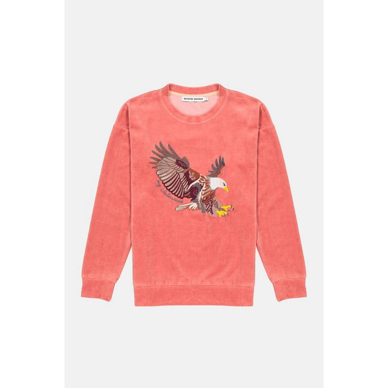 Sweat Keziah Velours Camelia Eagle - Maille Et Sweats - Valentine Gauthier - The Bradery