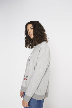 Sweat Molleton Albany Gris Chiné Maille Et Sweats Swildens