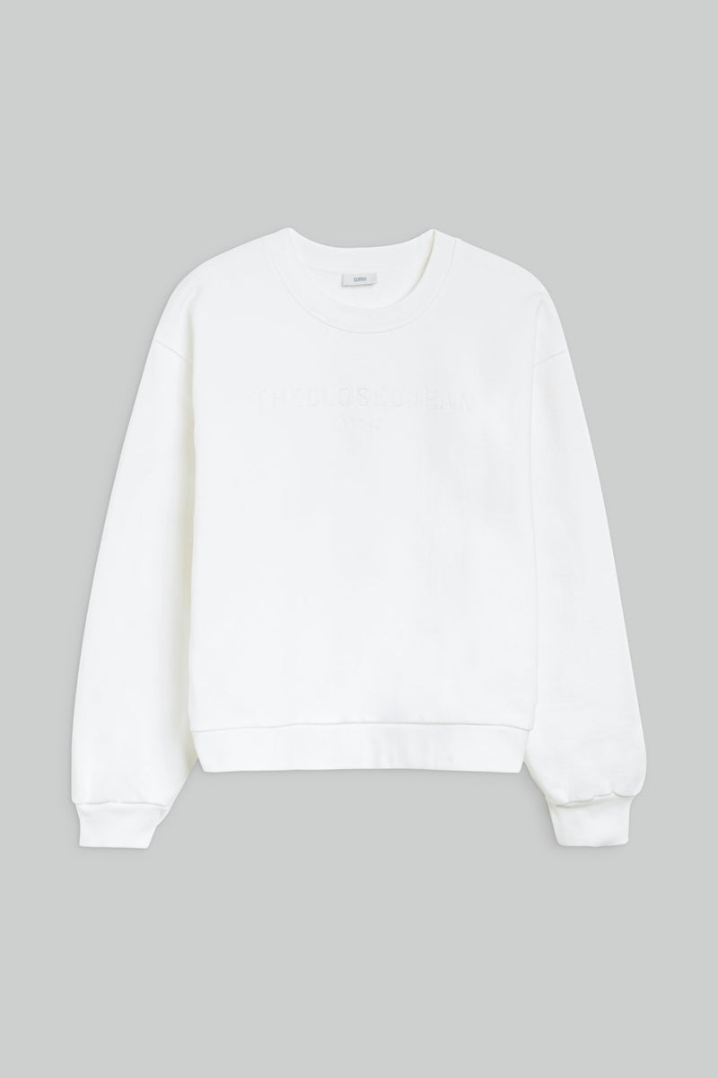 Sweatshirt Uni - Ivory Chemises & Tops Closed