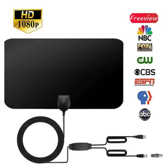 HD TV DTV Box Digital TV Antenna 50 Mile Booster HD/Indoor Antenna
