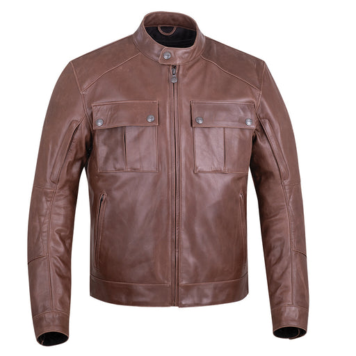 Leather Getaway Riding Jacket with Removable liner
