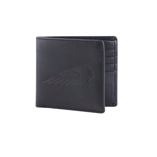 Indian Motorcycle Black Bi-fold Wallet