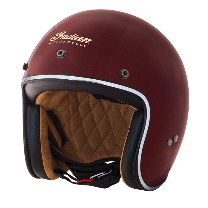 Red Retro Open Face Helmet