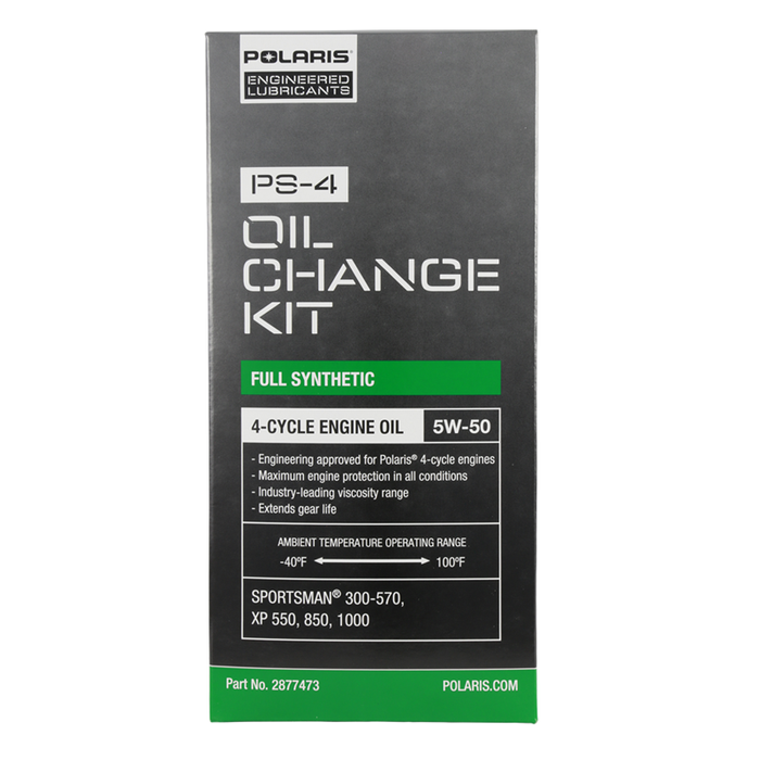 Polaris Full Synthetic Oil Change Kit, Fits Sportsman, Scrambler, Trail Blazer/Boss