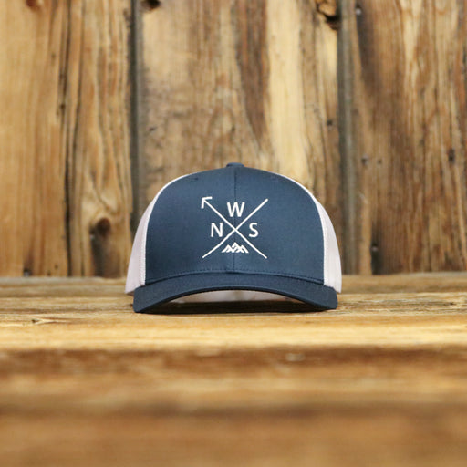 NWS Arrow Navy Curved Hat
