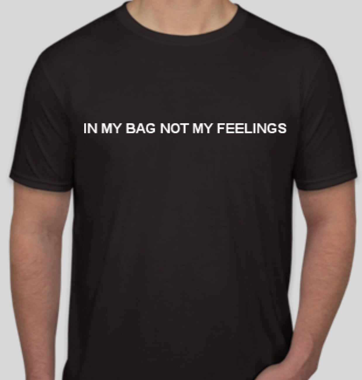 "Black and white ""No Feelings"" tee"