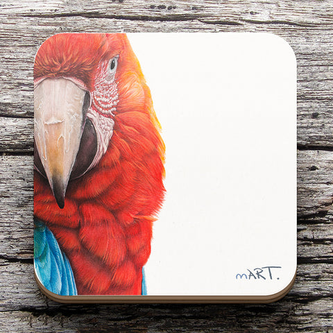 Coaster (Red-and-green Macaw) - Martin Aveling