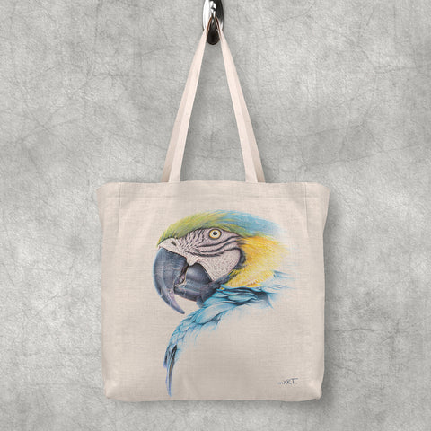 Tote Bag (Blue-and-yellow Macaw)