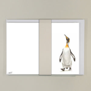 Notecard (8 x King Penguin) - Martin Aveling