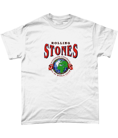 Gildan Heavy Cotton T-Shirt Rolling Stones Voodoo Lounge 94-95 World Tour Hoodie - M, White