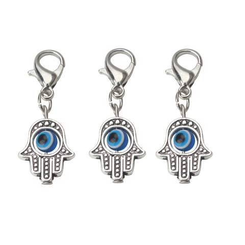 474f7bfa6 10pcs/lot 35*13mm Evil Eye Beads Hamsa Hand Charms Pendent Lobster Clasp  Pendant