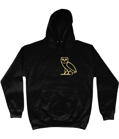 AWDis College Hoodie NEW Octobers Very Own Drake OVO OG Gold Owl Hoodie