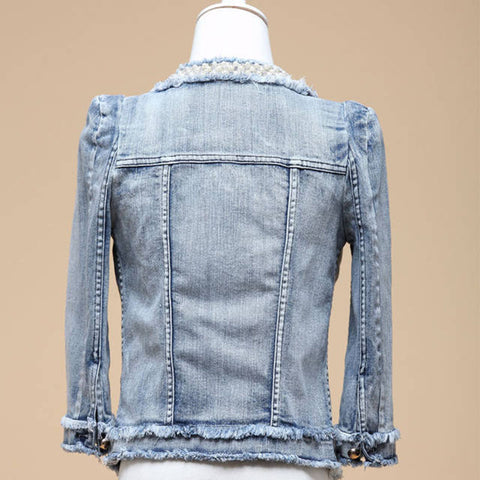 Jacket Pearls Beading Jeans