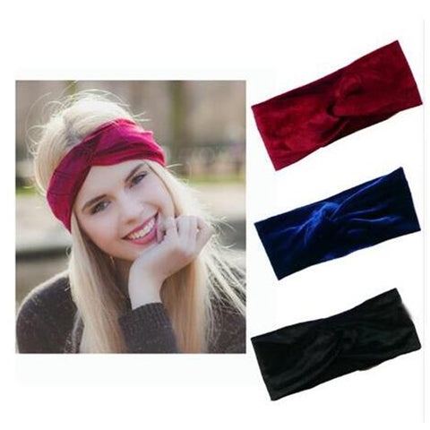 33318217 1pcs Velvet Twist Headband Women Earmuffs Earwarmers Noble Scrunchy Hair  Band Turban Headband Bandana Bandage On