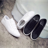 Shoes Flat Leather Canvas Shoes White Board Casual