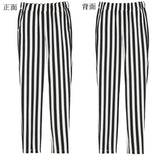 pants chiffon stripeds elastic loose sprots
