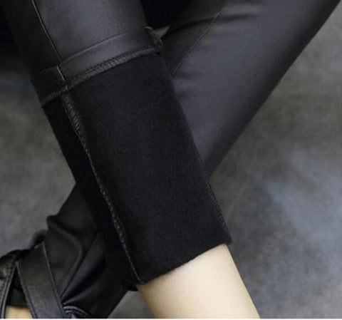 Pants Legging Leather Pencil