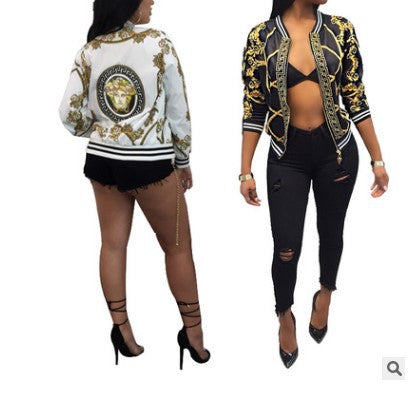 jacket women Printed Casual baseball