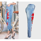 Jeans Women Stretch Loose Denim Pants