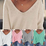 Casual Loose Solid Blouse Shirt Tops Christmas Sweater