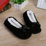Shoes Plush  Bow-knot Fleece