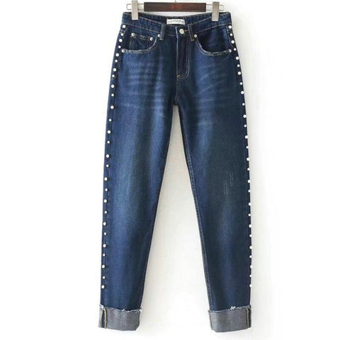 Pearl Beading jeans  pants