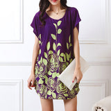 dress new women Plus Size short sleeve Loose Casual