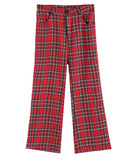 Plaid Red Retro Pants SE
