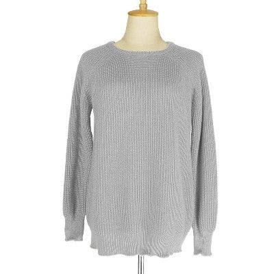 Soft Knitted Pullover Autumn Winter Crew Neck Jumper Sweaters