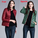 Jacket Double Side Wear Light Thin Down Female