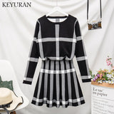 plaid Two Piece Set Dress SE