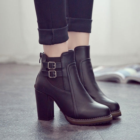 High Heel Ankle Martin Boots RI